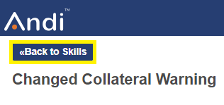 Shows where to select back to skills