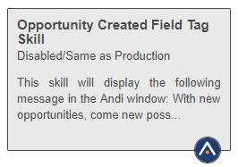 Shows a skill tile with an icon