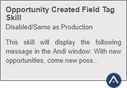 Shows a skill tile with the Andi icon